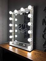 Зеркало настольное и настенное с подсветкой M606 MENS для дома и салонов красоты