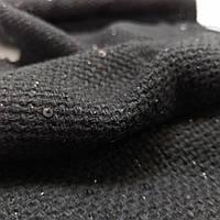 Рогожка черная шерсть с черным люрексом и черной паеткой лоскуты 10шт-70смХ15см