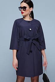 Модный женский плащ с укороченным рукавом размеры 42,44,46,40