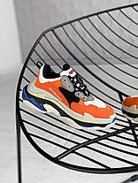 Женские кроссовки Balenciaga Triple S Orange Grey Black 541640W09OE7581, Баленсиага Трипл С, фото 2