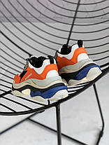 Женские кроссовки Balenciaga Triple S Orange Grey Black 541640W09OE7581, Баленсиага Трипл С, фото 3