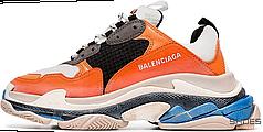 Женские кроссовки Balenciaga Triple S Orange Grey Black 541640W09OE7581, Баленсиага Трипл С