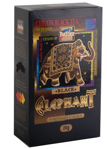 Чай Battler Черный Слон 250 гр. Особокрупнолистовой (ОП)