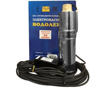 Глубинный насос Водолей БЦПЭ 0,5-32У короткий кабель