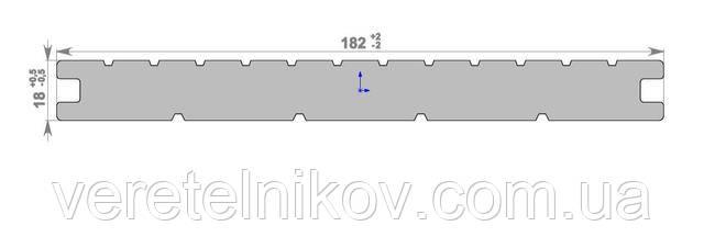 Террасная доска массив HOLZDORF Impress (Хольцдорф Импрэс Массив) 182×18х2400 мм.