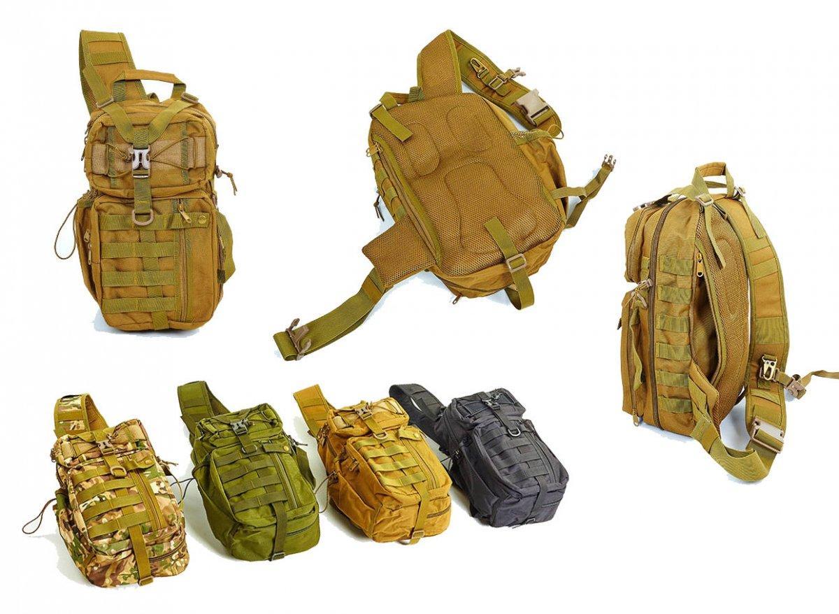 Тактический однолямочный рюкзак большой (до 20 л)