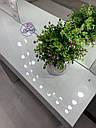 Стол визажиста с зеркалом и полочками сбоку зеркала, стол для бровиста, визажный стол, фото 6