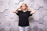 Стильная футболка женская с необработанным краем, фото 1