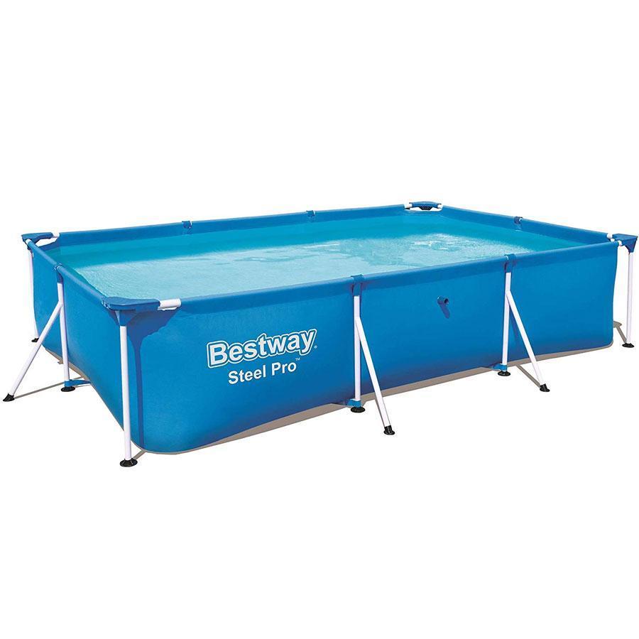 Прямоугольный каркасный бассейн Bestway Steel Pro Splash Frame Pool, 400х211х81 см  (56405BW)