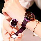 Женские часы Starry Sky Watch на магнитной застёжке Фиолетовые, фото 5