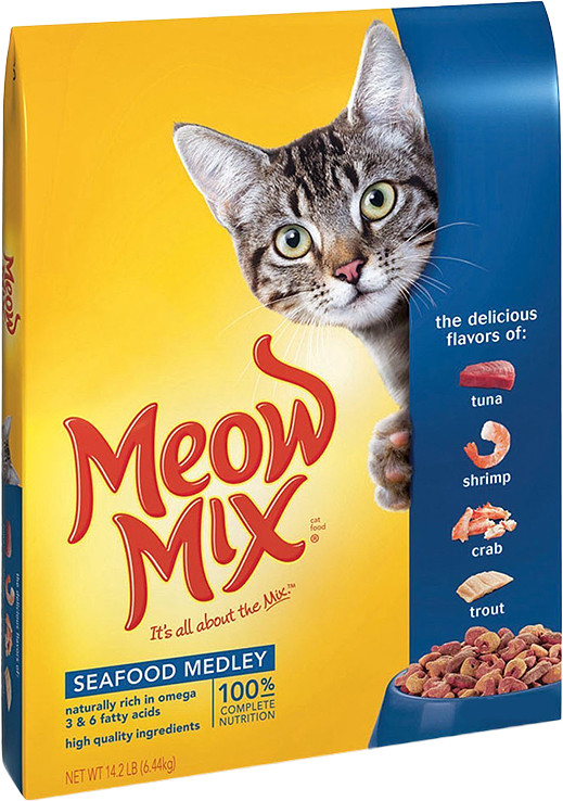 Корм для кошек с рыбой Meow Mix Seafood