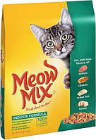 Сухой корм для домашних кошек Meow Mix Cat Indoor