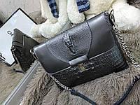 Клатч кросс боди сумочка кросс-боди в коже на два отделения