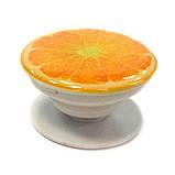 """Попсокет PopSocket 3D """"Кружок апельсина"""" №27 - Держатель для телефона Поп Сокет в блистере с липучкой 3М, фото 2"""
