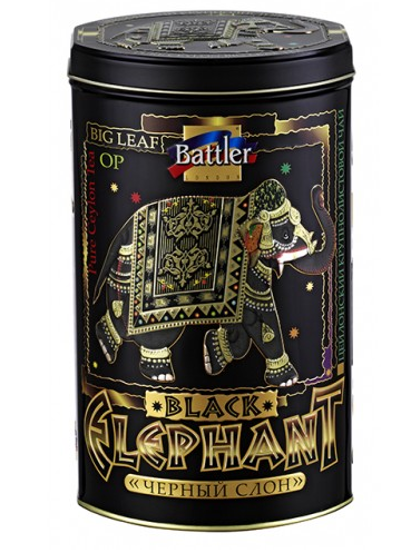 Чай Battler Черный Слон 200 г в жестяной банке
