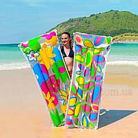 """Матрас надувной для плавания """"Яркие цветы"""" 29644021, фото 1"""