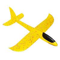 Самолет планер светящийся из пенопласта, 48 см Желтый