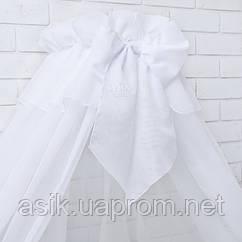 Балдахин на кроватку белого цвета