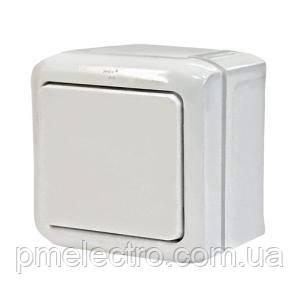 Выключатель 1-клавишный  ip44 Forix белый