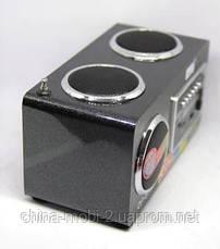 Акустика 6W Opera OP-8707 USB 220V, MP3/SD/USB/FM/AUX черная, фото 3
