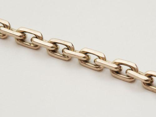 Золотая цепочка ЯКОРЬ 1 мм размер 55 см