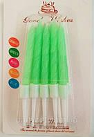 Свечи  неоновые зеленые 10шт/уп
