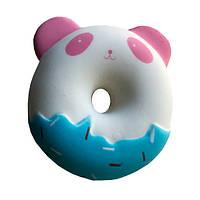 Мягкая игрушка антистресс Сквиши Squishy Пончик - Панда голубая
