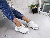 Жіночі білі кросівки, фото 1