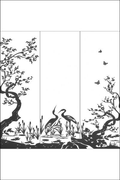 Пескоструйные рисунки на 3 двери