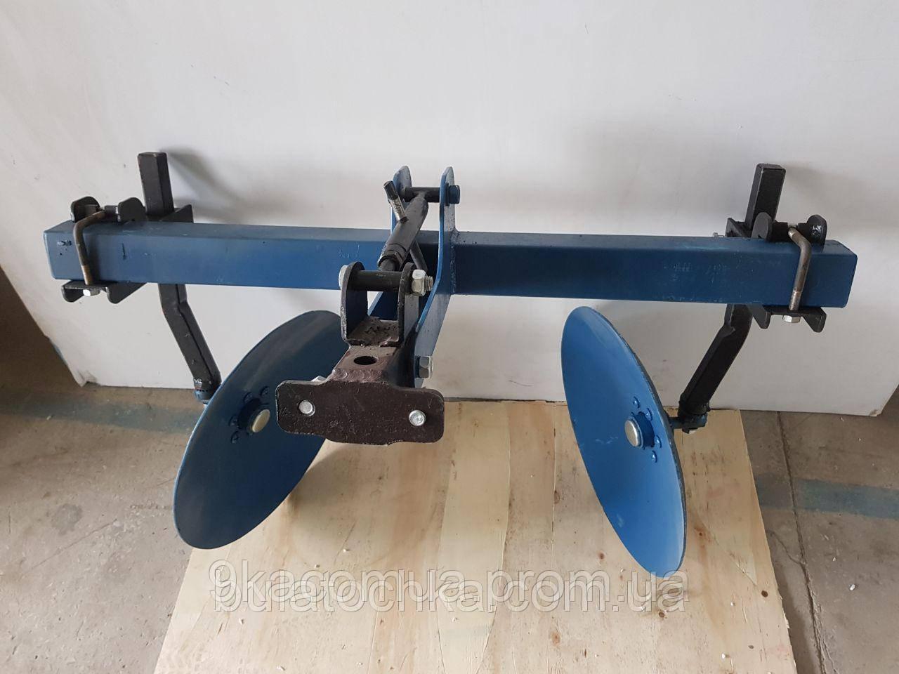 Окучник дисковый agromarka luxe на двойной сцепке с усиленными стойками (ф дисков 420мм)  Агромарка