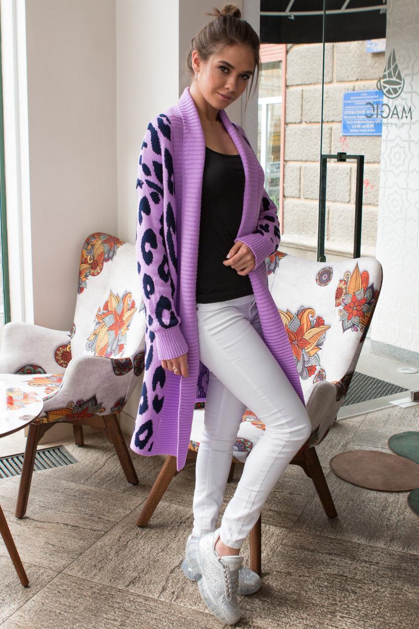 вязаное пальто с леопардовым принтом лео 44 52 продажа цена в