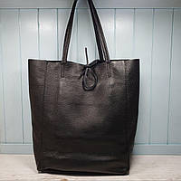 Женская кожаная итальянская сумка - шопер