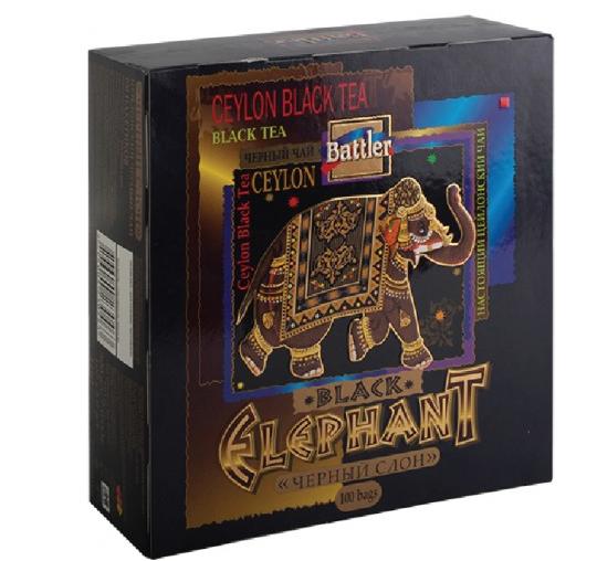 Чай Battler Черный Слон 100 пак.