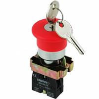Кнопка Грибок с ключом красная NC XB2-BS142