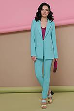 Стильный классический женский пиджак Патрик однотонный мятный, фото 3