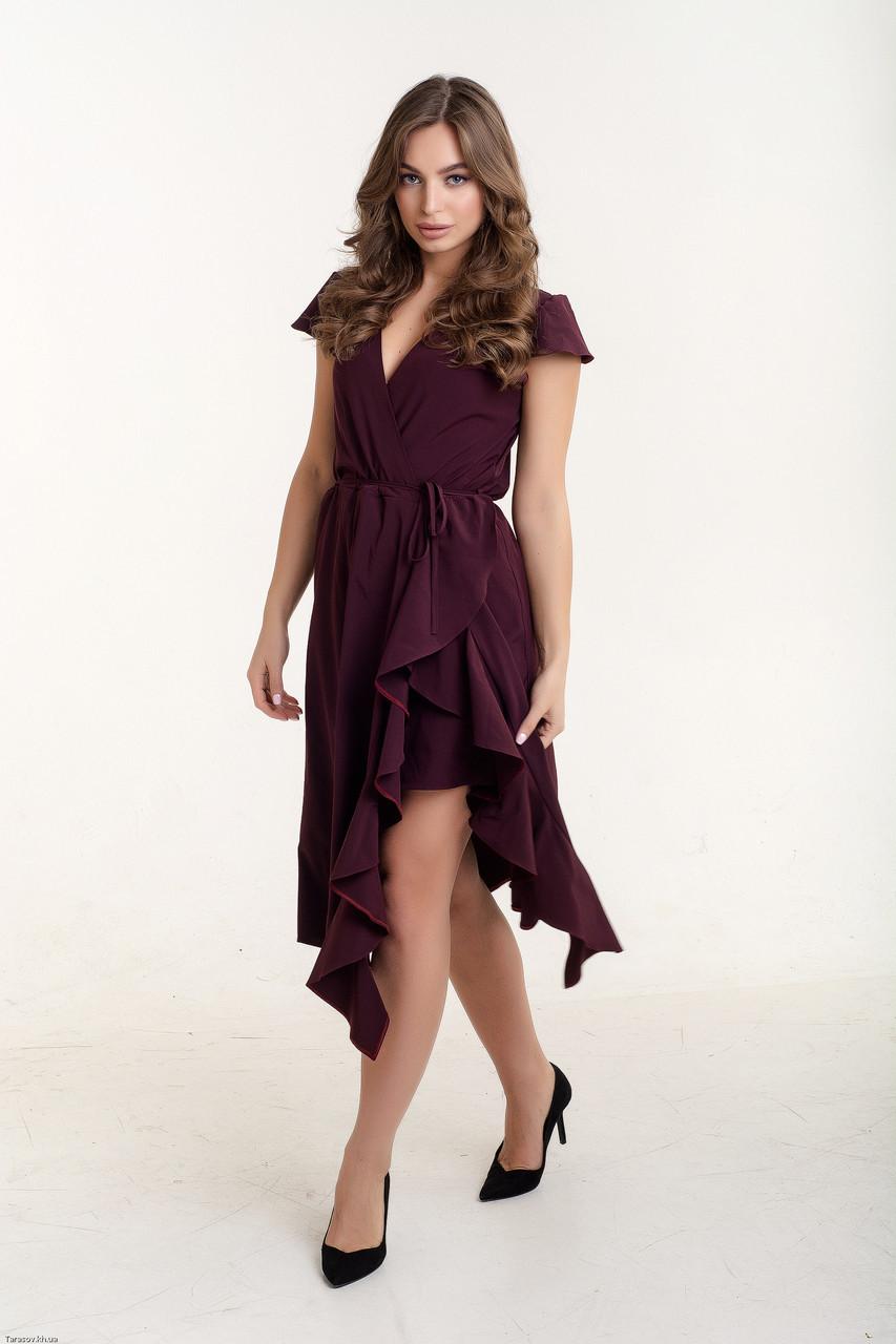 Летнее красивое платье Николетта бордовый (44-46)