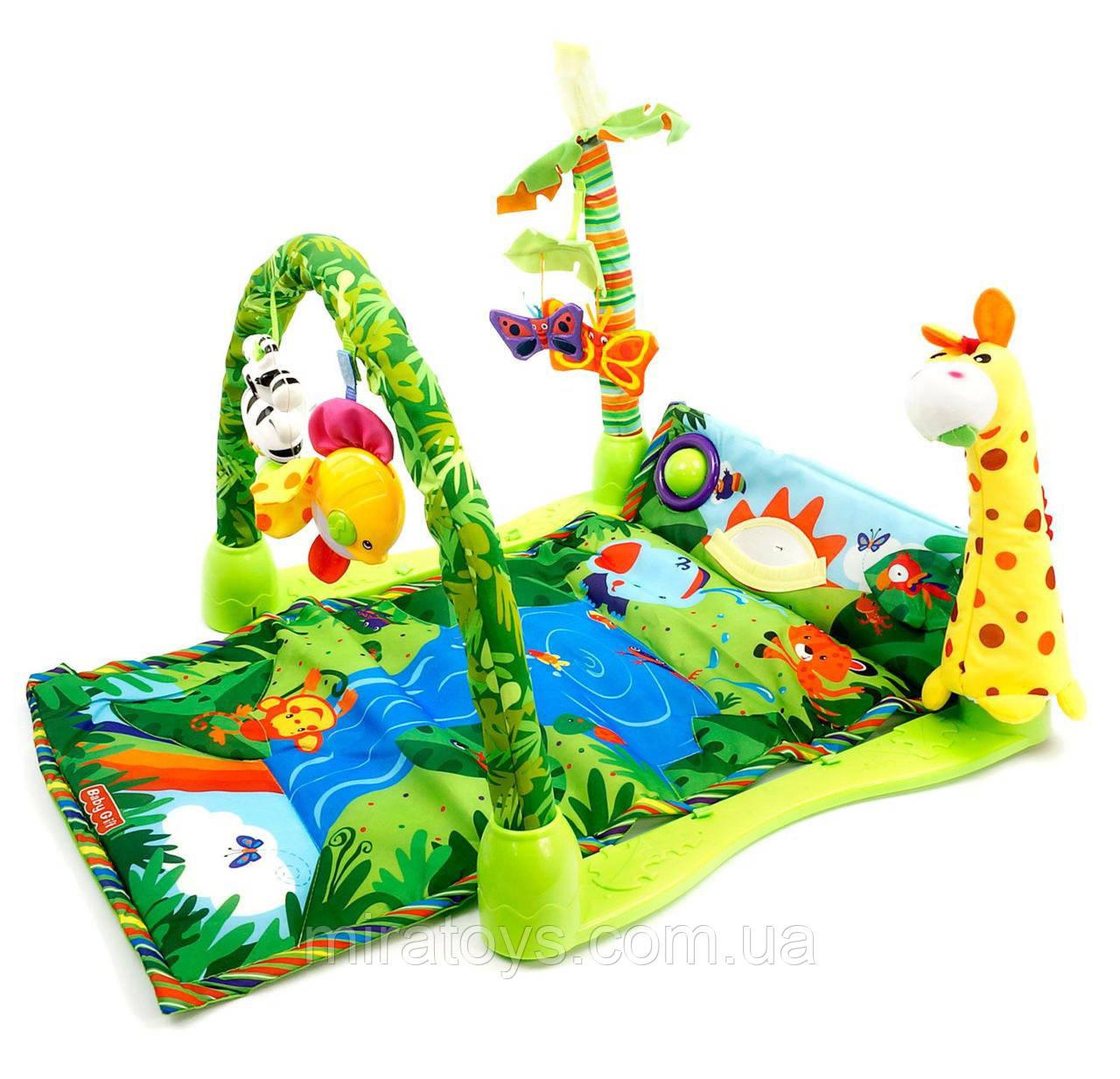 """Дитячий розвиваючий килимок 3059 """"Тропічний ліс"""""""