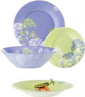 Столовый сервиз 19пр. LUMINARC PURPLE MIX&MAT, набор посуды, набор тарелок Люминарк