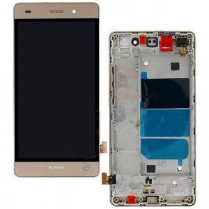 Дисплей с тачскрином Huawei P8 Lite (ALE L21) золотистый в рамке