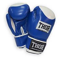 Перчатки боксерские Thor - Competition 500/02 (кожа) сине-белые, фото 1