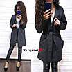 Женский модный кардиган с карманами из люрекса, фото 2