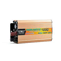 Инвертор 24V-220V 1000W UKC