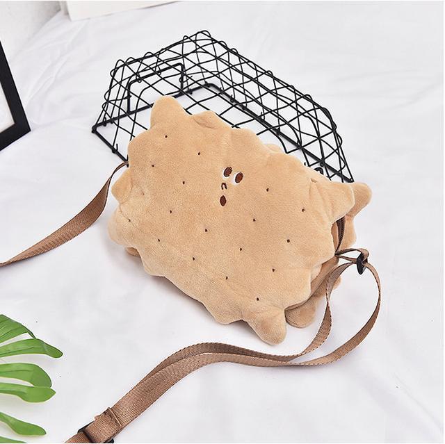 Плюшевая сумочка через плечо Печенька