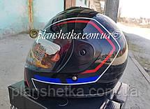 Шоломи для мотоциклів Hel-Met 150 чорний з синім, фото 3