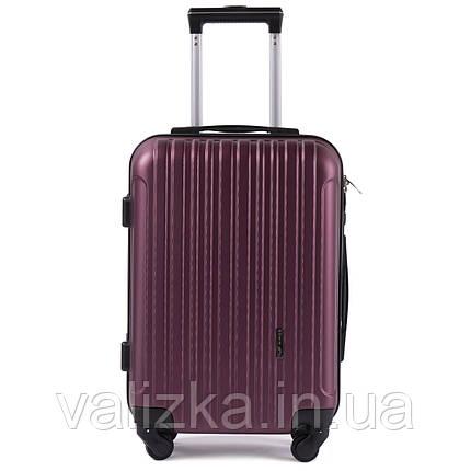 Пластиковый чемодан для ручной клади  S+ Wings 2011 бордовый на 4-х колесах, фото 2