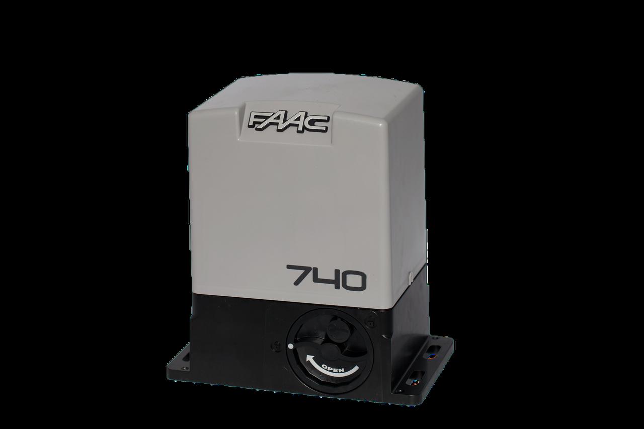 Привод FAAC 740 для откатных ворот (створка до 500 кг)