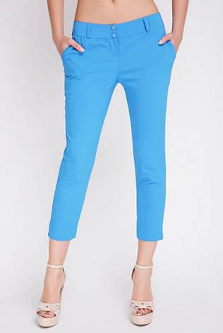 Женские укороченные ярко-голубые летние брюки BENGAL, фото 2