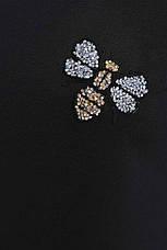 """Стильный женский повседневный костюм: кофта и штаны с нашивкой """"Cassandra"""" черный, фото 3"""