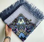 Сказки летней ночи 1862-1, павлопосадский платок шерстяной с шелковой бахромой, фото 10