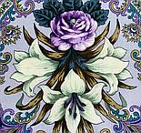 Сказки летней ночи 1862-1, павлопосадский платок шерстяной с шелковой бахромой, фото 3